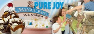 Cedar crest ice cream joy picture - moosie's ice cream and coffee parlor, medford, wi