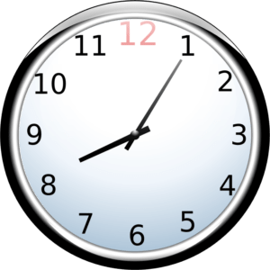Moosies Hours Clock face
